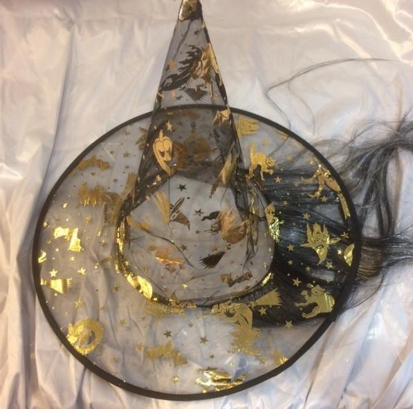 """Полупрозрачная шляпа-колпак """"Ведьмы с волосами""""  СКЛАД - Шафран в Одесской области"""