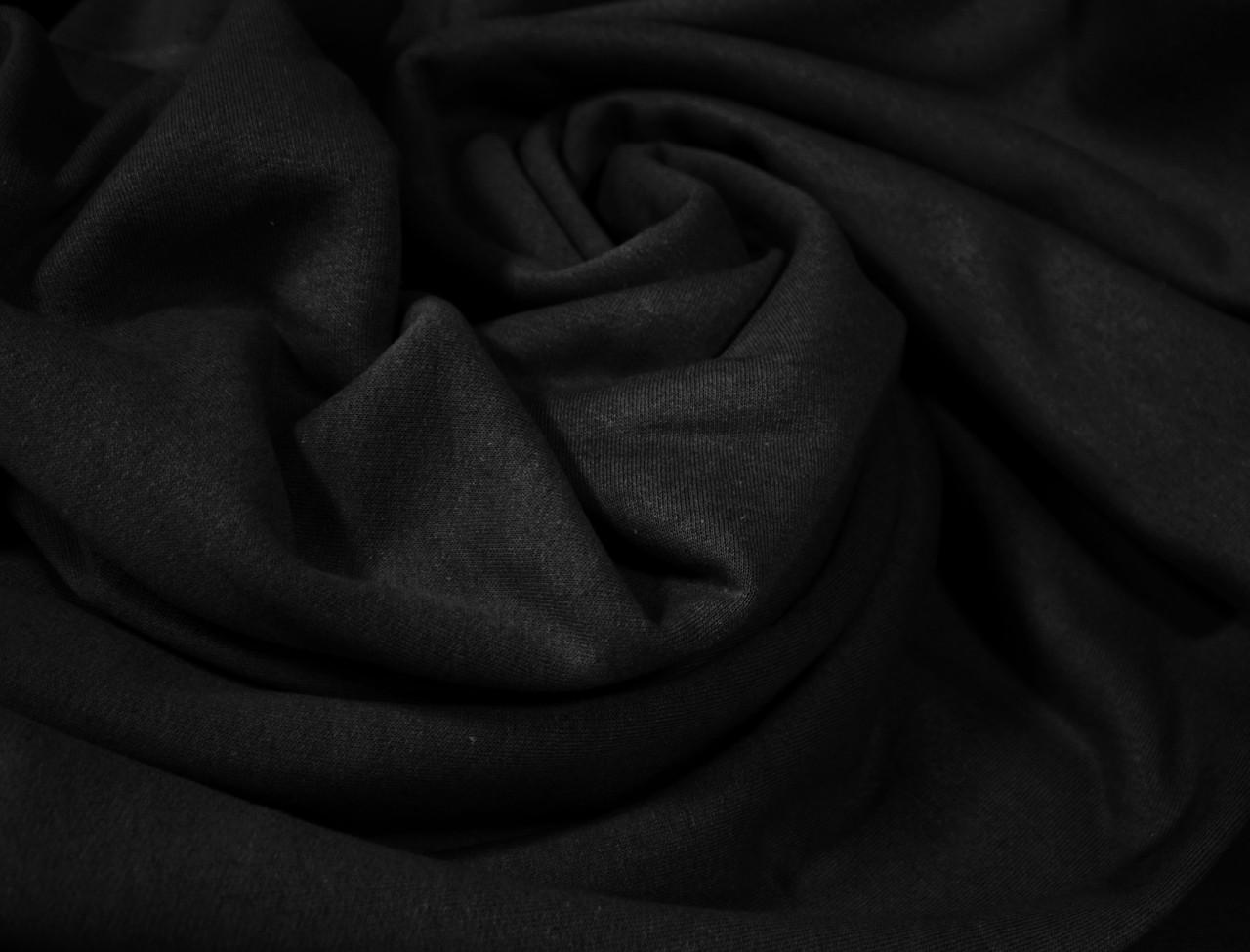 Футер двунитка с начесом черная (220см, Турция)