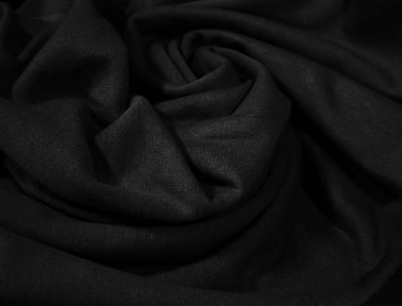 Футер двунитка с начесом черная (220см, Турция), фото 2