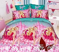 Комплект постельного белья для детей Barbie (ДП евро-061)