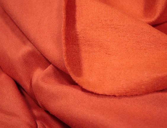 Футер двунитка с начесом терракотовая (220см, Турция), фото 2