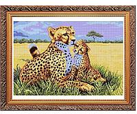 Набор для вышивания картины «Леопарды»
