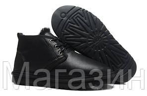 Мужские угги UGG Neumel Black (Угги УГГ Ньюмел) с пропиткой черные, фото 2