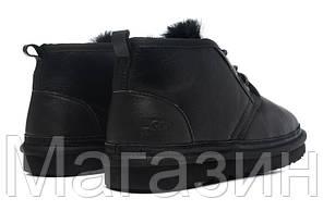Мужские угги UGG Neumel Black (Угги УГГ Ньюмел) с пропиткой черные, фото 3