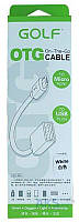 GOLF GC-06 OTG cable Micro USB 0,16m White