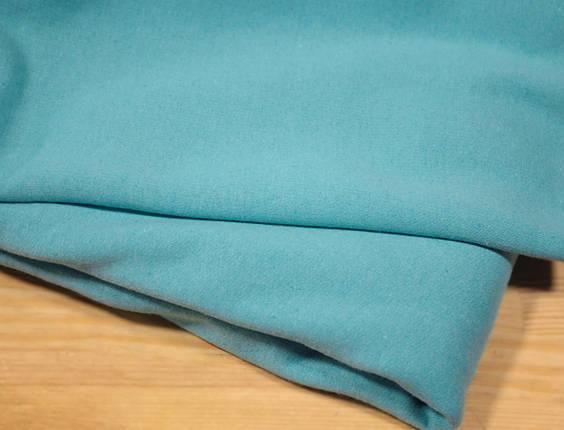 Футер двунитка с начесом голубая бирюза (220см, Турция), фото 2
