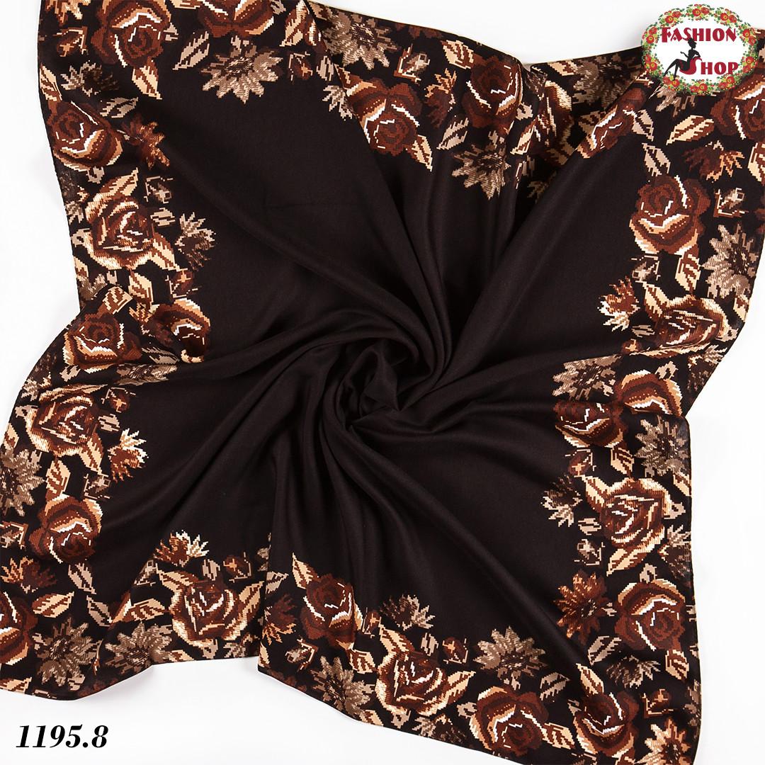 Женский шерстяной платок Цветочная тайна