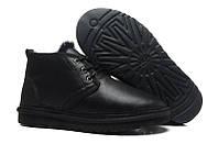 Зимние мужские ботинки угги UGG Neumel с пропиткой (Угги Неумел Оригинал) замшевые черные
