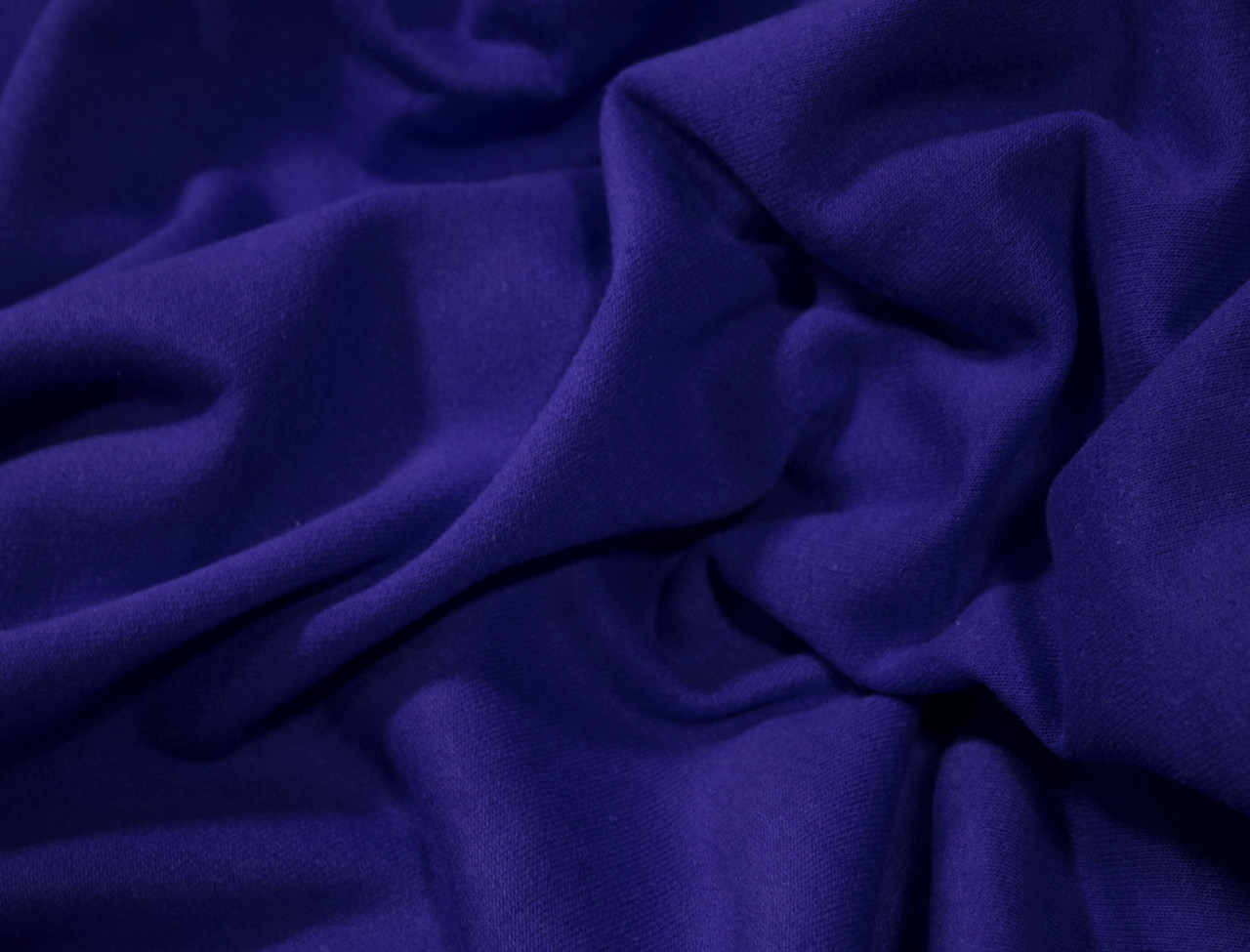Футер двунитка с начесом синий электрик (220см, Турция)