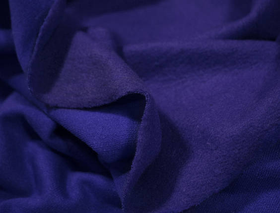 Футер двунитка с начесом синий электрик (220см, Турция), фото 2