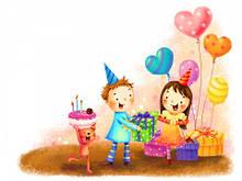 Вафельные картинки День Рождения