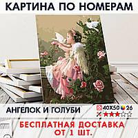 "Картина по номерам ""Ангелок и голуби"" 40х50 см"
