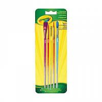 Набор кисточек для рисования красками Crayola 5 шт (3007)