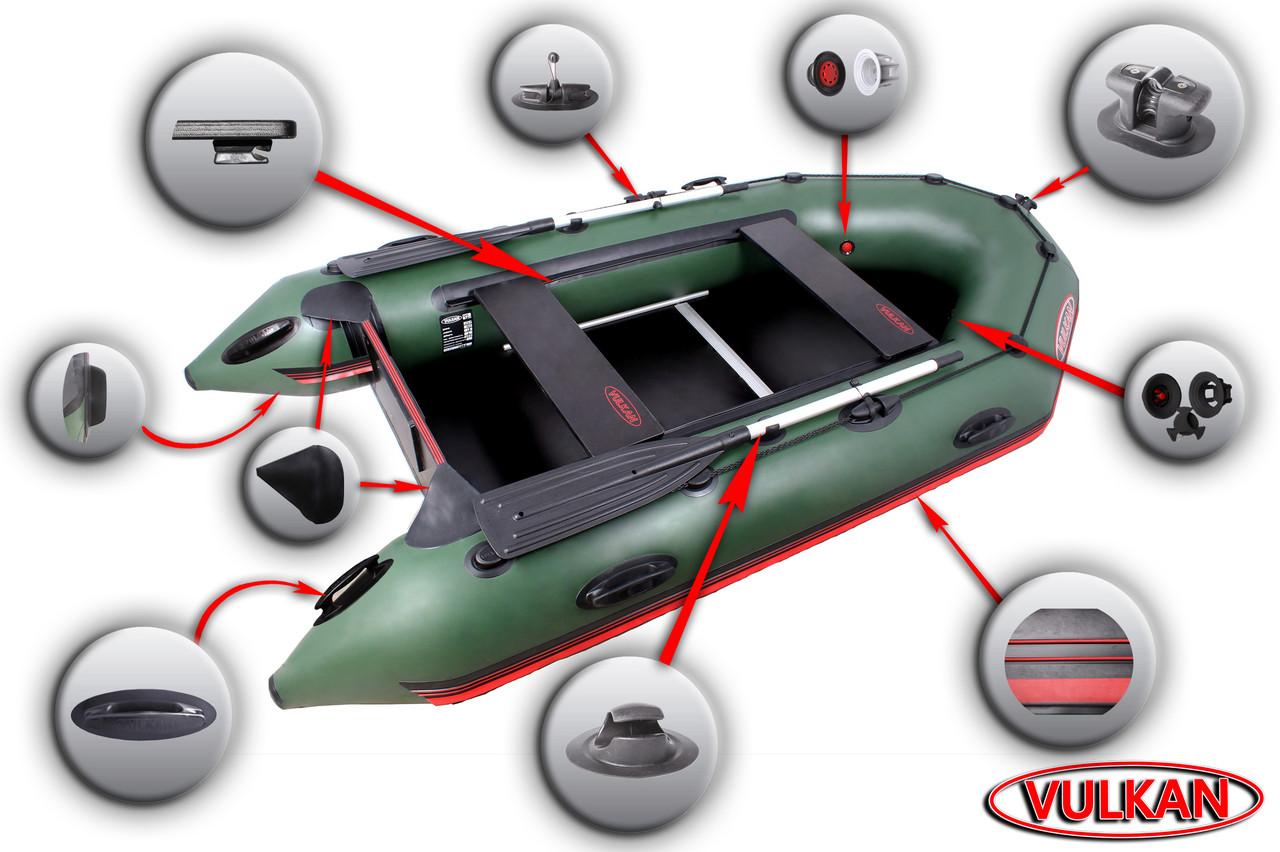 Мощная моторная лодка с надувным килем Вулкан VMK285(PS)