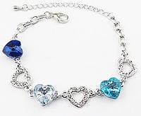 Браслет с австрийскими кристаллами Heart of Ocean (ab84) Код:124285816