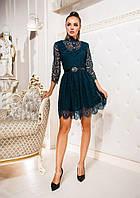 Женское облегающие платье с пояса из гипюрового кружева. Ткань: гипюровое кружево. Размер: 42,44,46,48.
