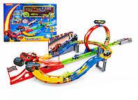 Детский Инерционный Трек Вспыш и его чудо машинки 828-54, Игровой Трек 828 Вспыш и его друзья