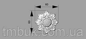 Розетка 1 - 60х60 - резная, фото 2