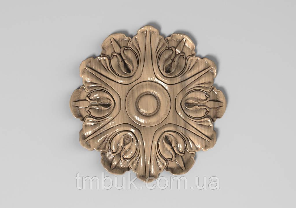 Розетка 3 - 100х100 - деревянная