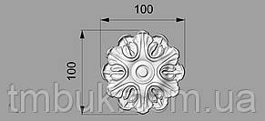 Розетка 3 - 100х100 - деревянная, фото 2