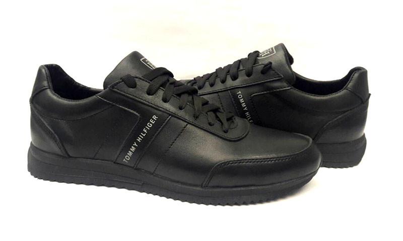 a950f075ba8c Мужские туфли брендовые Tommy Hilfiger натуральная кожа чёрные TH0009