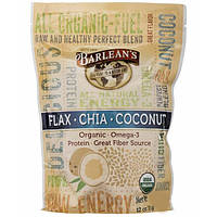Barlean's, Raw Energy Flax-Chia-Coconut blend, 12oz pouch
