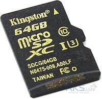 Карта памяти Kingston microSDXC 64 Gb UHS-I no ad U3 (SDCG/64GBSP)