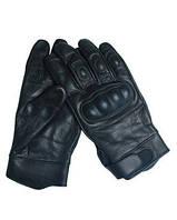 Перчатки тактические кожа черные