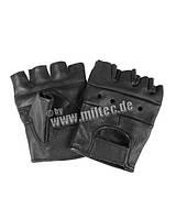 Тактические перчатки кожаные без пальцев