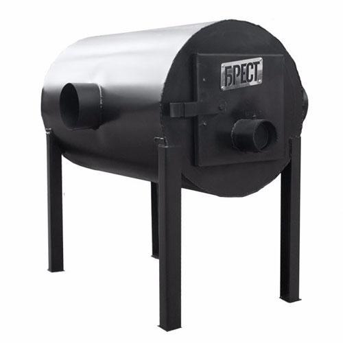 """Печь для гаража, теплицы, на дачу """"Брест-350"""" горизонтальная"""