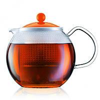 Чайник заварочный с прессом Bodum Assam 1 л (оранжевый)