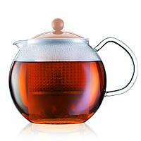 Чайник заварочный с прессом Bodum Assam 1 л (кремовый)