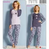Женская пижама Vienetta Secret (серая)