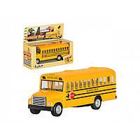 "Машина металл. ""Kinsfun"" School Bus 5 KS-5107-W"