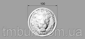 Розетка 7 - 100х100 - для мебели Лев, фото 3