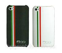 Чехол для iPhone 4/4S - FIAT 500 Carbon stripes back cover