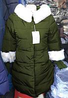 Пуховик Зима хаки размер М