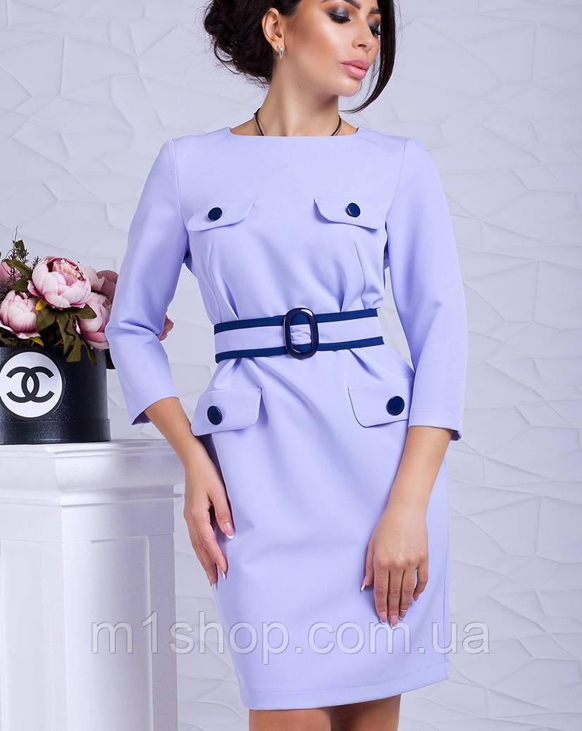 Женское орининальное платье с поясом (Франциска lzn)