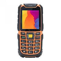 """Неубиваемый телефон Nomi i242 black- orange оранжевый IP68 (1SIM) 2,4"""" 64/64МБ+SD 0,3Мп оригинал Гарантия!"""