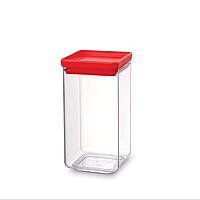 Модульная квадратная банка Brabantia 1.6 л (красная)