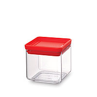 Модульная квадратная банка Brabantia 0.7 л (красная)