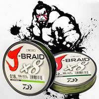 Плетеный шнур Daiwa J-Braid X8 Green