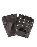 Перчатки кожаные без пальцев с заклепками
