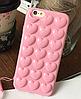 Силиконовый чехол розовые Сердца для iPhone 6/6S