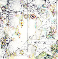 Салфетка для декупажа Новогодняя композиция 33*33 см, 1 шт