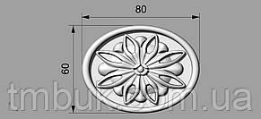 Розетка 19 - 80х60 -  овал, фото 2