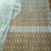 Тюль с вышивкой для зала, фото 1