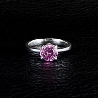 Циркон розовый, серебро 925, кольцо, 722КС