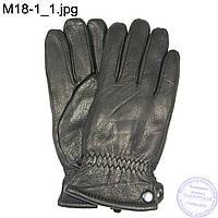 Мужские кожаные зимние перчатки из кожи оленя - M18-1, фото 1