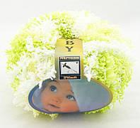 Nirvana Filati Baby Бело-салатово-желтый меланж